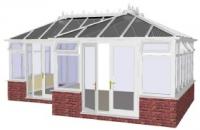 Conservatory - P Shape Edwardian Style