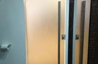 bronze-glass-sandblasted-shower-door