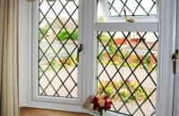 upvc leaded window inside view