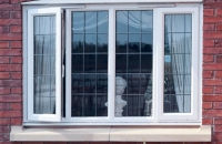 upvc leaded window outside view