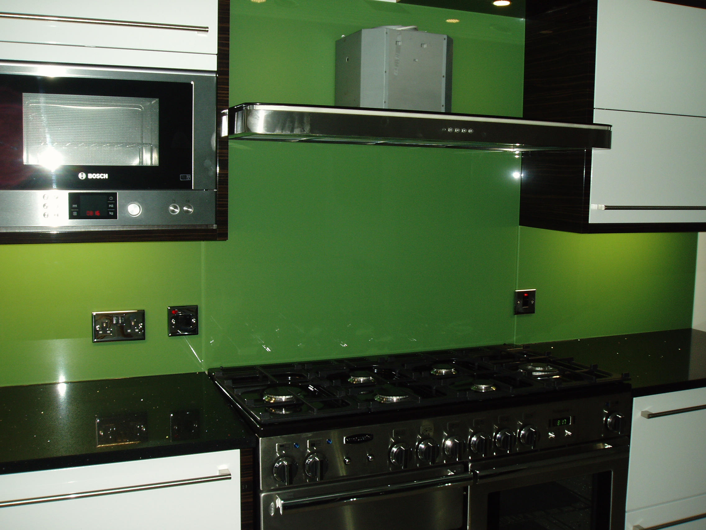 Splashbacks Amp Painted Glass Green Kitchen Splashback