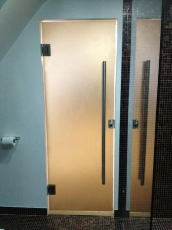 Bronze glass sandblasted shower door glass amp glazing solutions
