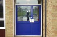 Blue Powder Coated Entrance Doors (1)