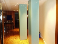 Back painted glass column casing