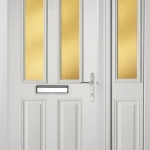 Composite Glazed Door - White with matching Side Panel