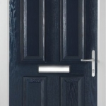 Solid Blue Composite Door