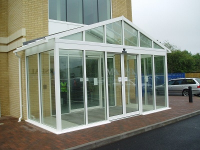 Glass Entrance Porch