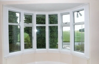 Secondary glazing in traditional bay window