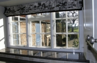 Secondary glazing in kitchen slider window