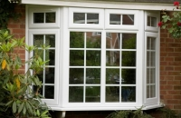 upvc angled bay window