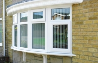 upvc white bow window