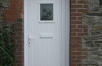 upvc white shiplap panel door
