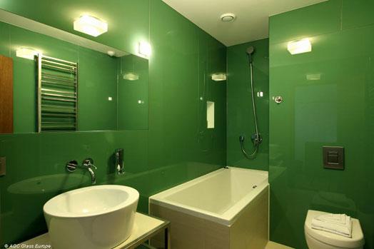 Splashbacks  U0026 Painted Glass   Lacobel Green
