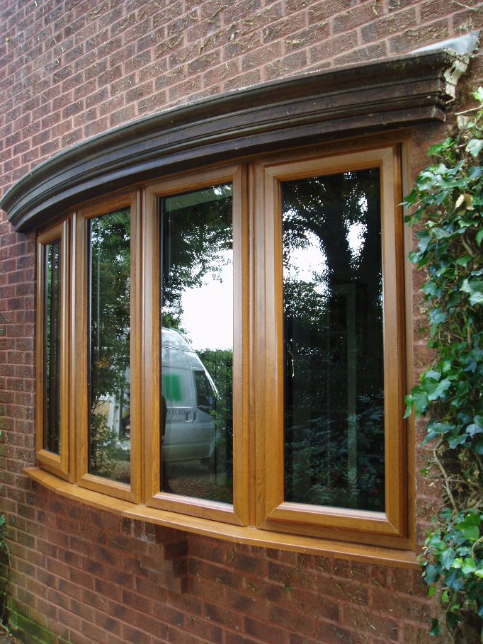 Light Oak uPVC Windows