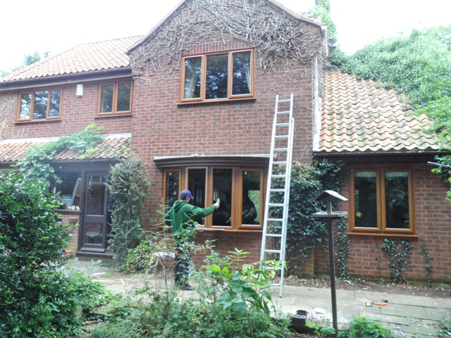 Installing new uPVC windows in Heacham, Norfolk