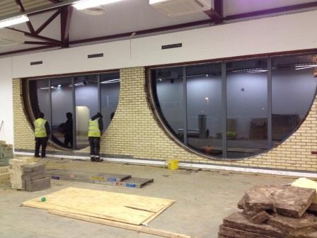 Installing new shaped windows