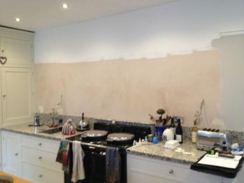 Kitchen Splasback Installation In Progress